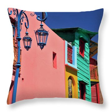 Throw Pillow featuring the photograph Caminito by Bernardo Galmarini