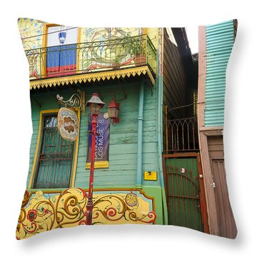Caminito La Boca Throw Pillow by Silvia Bruno
