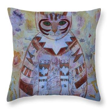 Camo Cat Throw Pillow