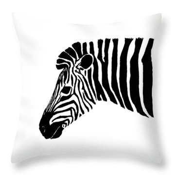 Camouflaged Profile Throw Pillow by Kayleigh Semeniuk