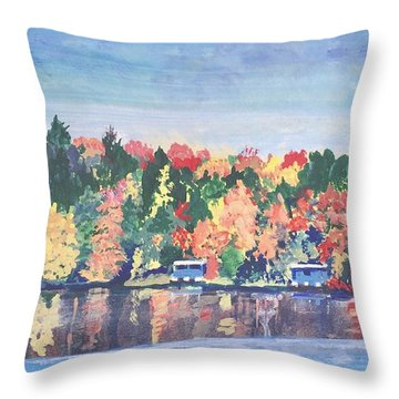 Camp Archbald At Ely Lake Throw Pillow