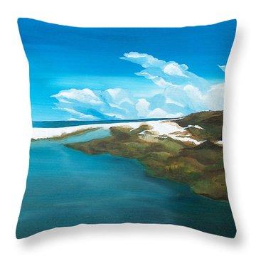 Camp Creek Throw Pillow by Racquel Morgan
