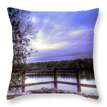 Throw Pillow featuring the photograph Camp Ground by Maddalena McDonald