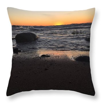 Camp In The Fall Throw Pillow