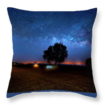 Throw Pillow featuring the photograph Camp Milky Way by Mark Andrew Thomas