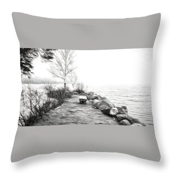 Camp Of The Woods, Ny Throw Pillow