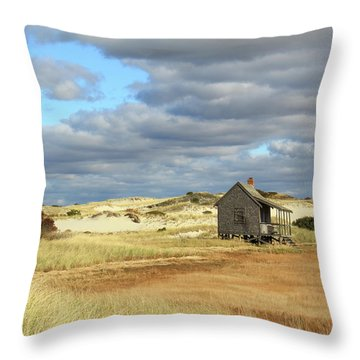 Camp On The Marsh And Dunes Throw Pillow by Roupen  Baker