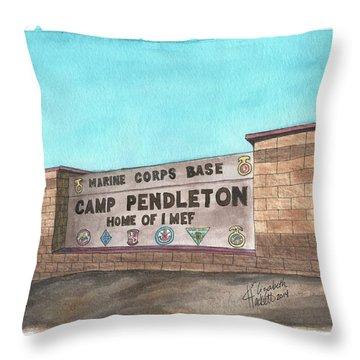 Camp Pendleton Welcome Throw Pillow