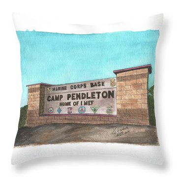 Camp Pendleton Welcome Throw Pillow
