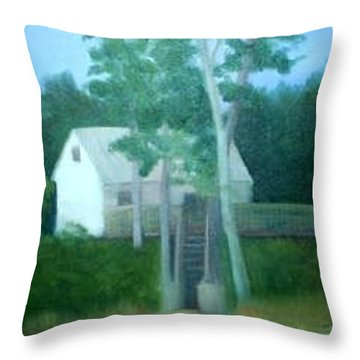 Camp Throw Pillow by Sheila Mashaw
