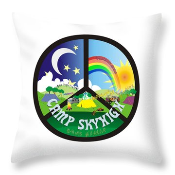 Camp Skyhigh Throw Pillow