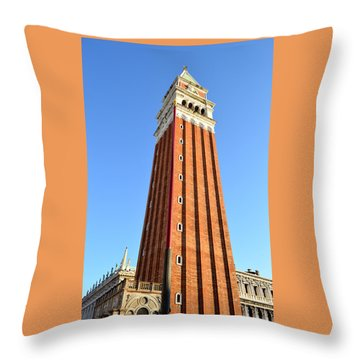 Campanile Di San Marco In Venice Throw Pillow