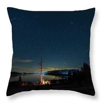 Throw Pillow featuring the photograph Campfire 1 by Jim Thompson
