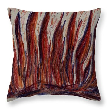 Campfire Flames Throw Pillow by Theresa Willingham