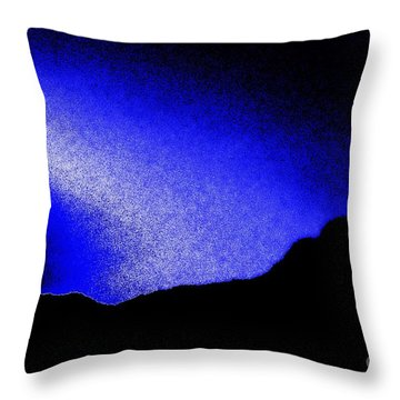 Camping Blues Throw Pillow