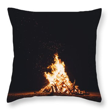 Campfire Throw Pillows