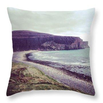 Beach On Hoy, Scotland Throw Pillow