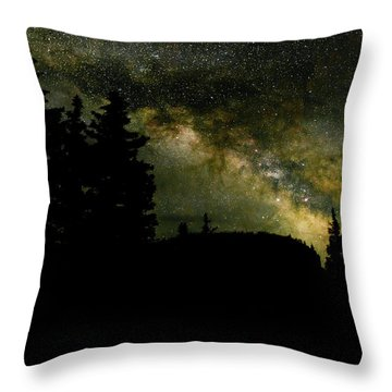 Camping Under The Milky Way 2 Throw Pillow