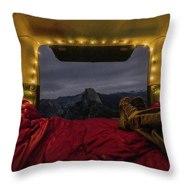 Camping Views Throw Pillow
