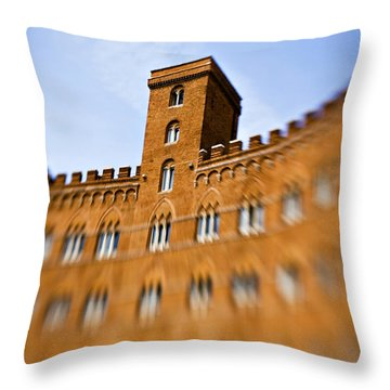 Campo Of Siena Tuscany Italy Throw Pillow by Marilyn Hunt