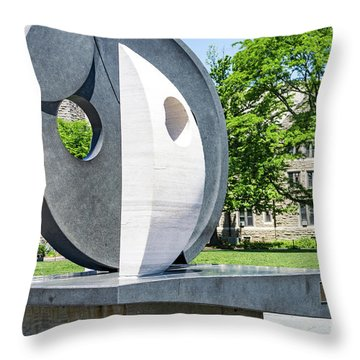 Throw Pillow featuring the photograph Campus Art by William Norton