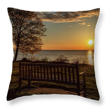 Campus Sunset Throw Pillow