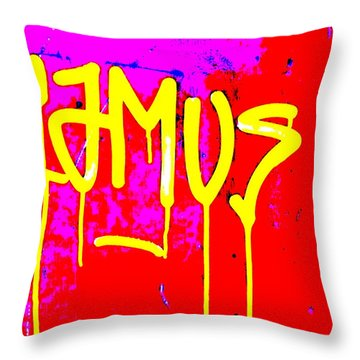 Camus ... Graffitied  Throw Pillow by Funkpix Photo Hunter