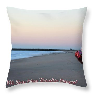Can We Stay Here... Throw Pillow by Robert Banach