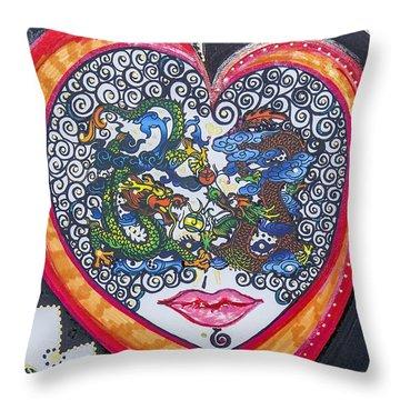 Can You See Me - X Throw Pillow