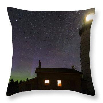 Cana Island Northern Lights Throw Pillow