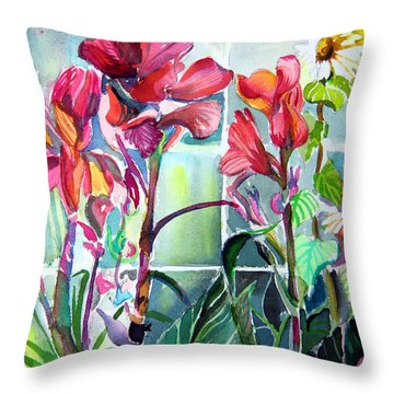 Cana Lily And Daisy Throw Pillow