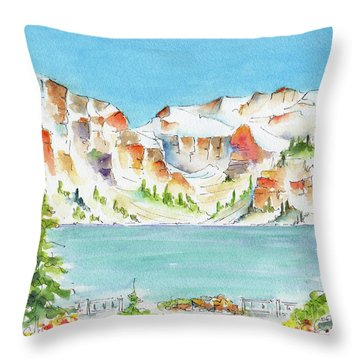 Canada 150 Alberta Throw Pillow