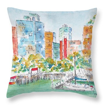 Canada 150 British Columbia Throw Pillow