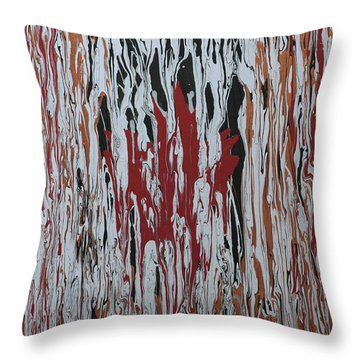 Throw Pillow featuring the painting Canada Cries by Cathy Beharriell