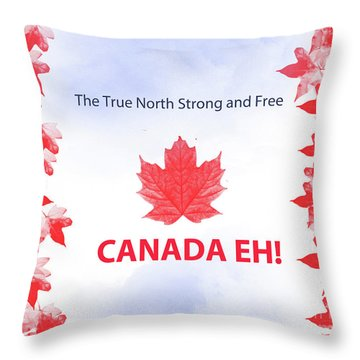 Canada Day 2016 Throw Pillow