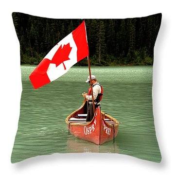 Throw Pillow featuring the photograph Canada Day... by Al Fritz