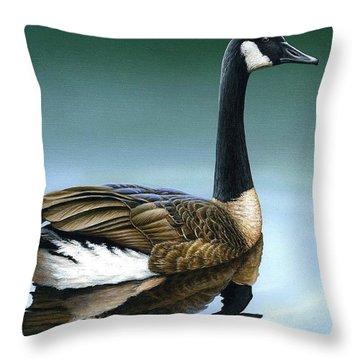 Canada Goose II Throw Pillow
