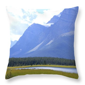 Canadian Mountains Throw Pillow