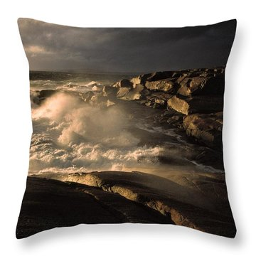 Canada Nova Scotia Peggy's Cove Throw Pillow