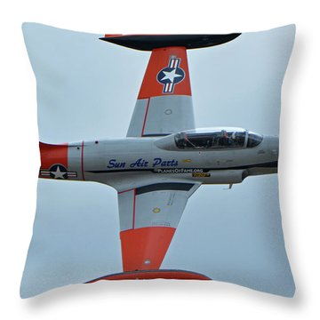 Canadair Ct-133 Silver Star Nx377jp Pacemaker Chino California April 30 2016 Throw Pillow by Brian Lockett