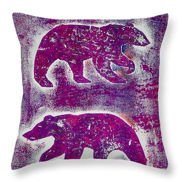 Canadian Bears Pink  Throw Pillow