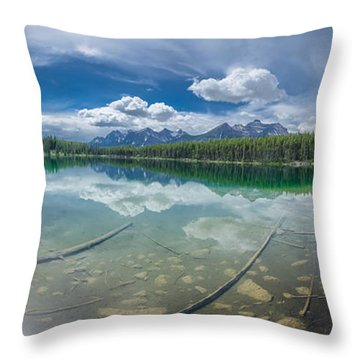 Canadian Beauty 2 Throw Pillow by Thomas Born