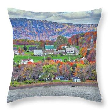 Canadian Fall Foliage Throw Pillow