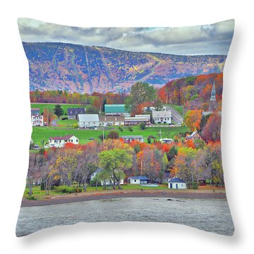 Canadian Fall Foliage Throw Pillow