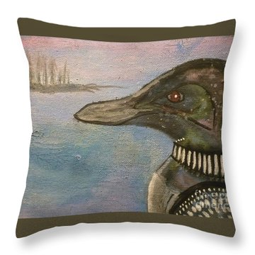 Canadian Loon Throw Pillow