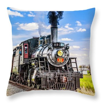 Throw Pillow featuring the photograph Canadian National 89 by Nick Zelinsky