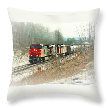 Canadian National Railway Vignette Throw Pillow