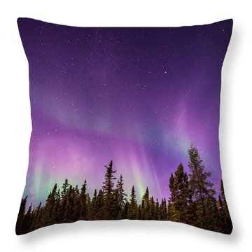 Canadian Northern Lights Throw Pillow