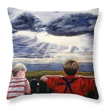Canadian Prairies Throw Pillow