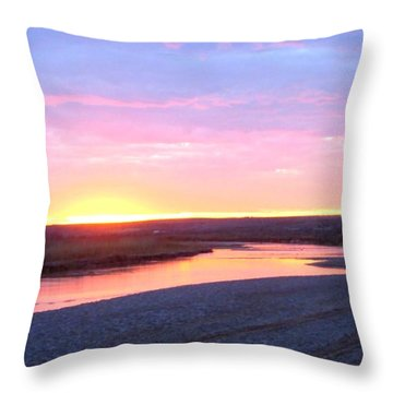 Canadian River Sunset Throw Pillow